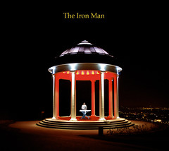 The Iron Man (ironically ironing) (Mister-Mastro) Tags: man night iron nacht pavillon rdesheim bgeln mygearandmepremium mygearandmebronze blinkagain rememberthatmomentlevel1 vpu2