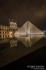 Musée du Louvre (Dylan Farrow) Tags: paris france water night reflections europe louvre fountains 2012 pixelpost muséedulouvre museedulouvre flickrpost canon5dmarkiii