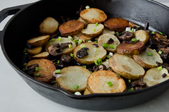duck fat potatoes with mushrooms (sassyradish) Tags: cooking mushrooms potatoes kosher sassyradish glutenfree