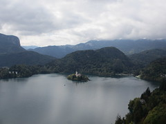 Lake and island church from Bled Castle, Slovenia (Paul McClure DC) Tags: lake castle architecture scenery historic slovenia bled slovenija oct2012