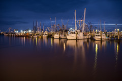 Blue Hour at Pass Harbor (Lane Rushing) Tags: morning mississippi boats harbor twilight nikon passchristian d600 bigmomma mississippigulfcoast 2470mmf28 passchristianharbor herowinner