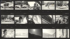 Road trip (Area Bridges) Tags: california blackandwhite film paper print pentax scan scanned contactsheet 1990 mesuper proofsheet