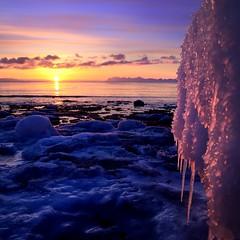 Svalbard ice in sunset (John A.Hemmingsen) Tags: sunset sky sun seascape ice colors svalbard spitsbergen nikond7000