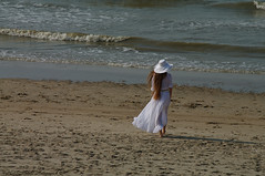 Belgian coast (Natali Antonovich) Tags: sea portrait hat hats style charm northsea romantic romanticism belgiancoast natalyahrebionka  hatisalwaysfashionable poetessnatalyahrebionka