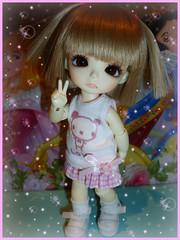 .:: Liriope ::. (Bunraku Doll) Tags: pink cute girl doll ns tiny bjd 人形 dollfie colette bayer grownup latidoll liriope かわいい 可愛い 女の子 lati latiyellow normalskin 16cm grownupbayer