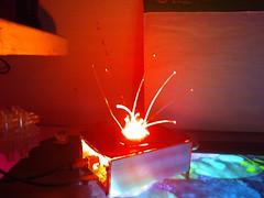SAIKOLED myki fiber flower experiment