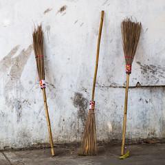 Trio (Miha Pavlin) Tags: trip vacation temple se three asia adventure trio southeast laos wat lao broom luang prabang