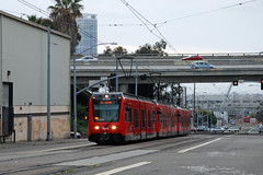 San Diego Trolley (So Cal Metro) Tags: bridge eastvillage sandiego metro trolley siemens tram viaduct transit lightrail lrt mts s70 lrv sandiegotrolley barriologan