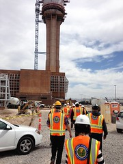 Site Visit - Las Vegas Air Traffic Control Tower - Las Vegas, NV (tossmeanote) Tags: las vegas hardhat orange tower yellow site construction traffic control bright air nevada visit nv survey faa iphone 2013 tossmeanote