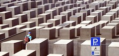 Holocaust Memorial (Marije van den Berg Arnhem) Tags: street people parking streetlife human labyrinth humanbeing linescurves beautifulstrangers