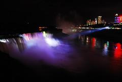 Niagara Falls illumination (WorldofArun) Tags: ny newyork niagarafalls nikon august niagara 2012 niagarariver niagaragorge 18200mm d40x yenumula niagarafallslights worldofarun arunyenumula