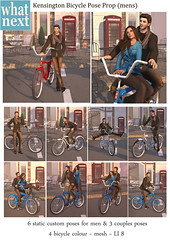 {what next} Kensington Bicycle Pose Prop - Pose Fair preview (What Next/Winter Thorn) Tags: life winter sl secondlife second thorn {what next}