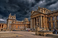 Menacing Skies (RTA Photography) Tags: light sky black colour clouds dark palace shades blended 1855mm hdr blenheimpalace x3 ortoneffect nikond5000 lightroom4 hdrefexpro tamronaf18270mmf3563diiivcpzdldasphericalif photoshopelements11