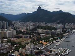 Pao de Aucar #6 (Vancayzeele Olivier) Tags: old city houses sky urban panorama mountain colors rio brasil riodejaneiro architecture canon photo brsil canonpowershot paindesucre paodeaucar donwtonw vancayzeele