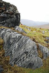 Folds (tmcull) Tags: ireland plane republic hill connemara fold marble geology folds structural banding axial curr vergence isoclinal parisitic