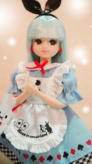 Castle Licca in Alice dress (possiblezen) Tags: blue white rabbit fantastic doll dress alice jenny dream land wonderland takara licca tomy 2012 2013