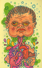 how is babby formed? (jeremy pettis) Tags: baby chicago hot cute moleskine head drawing babe jeremy gas doodle leif igor guts severed gassy babby gutz pettis doodleday
