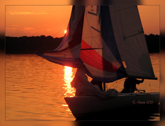 Segler (Niemann-Buuts (back again)) Tags: sunset lake beach water sailing northerngermany blinkagain photographyforrecreation
