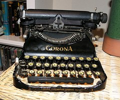 Smith Corona folding 3 row typewriter as Art (MarkGregory007) Tags: typewriter smithcorona
