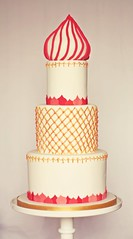 Russian gold cake (The Sugared Saffron Cake Co.) Tags: wedding cake gold russian salmoncake goldweddingcake russianweddingcake