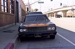 1964 (bhop) Tags: california leica city classic chevrolet film car vintage los camino angeles kodak flames rangefinder el 400 portra culver screwmount v700 unicolor barnack iiif