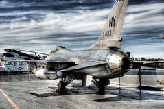 The Boys from Syracuse (Tony Shi.) Tags: ny museum us fighter manhattan aircraft military f16 intrepid af ang airforce hdr 403 79 airnationalguard afterburner fightingfalcon 174thfighterwing theboysfromsyracuse hancockangb