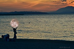 Atlas as a kid... (Love me tender .**..*) Tags: sunset sea sky moon children photography digitalart greece april imagination silouettes dimitra 2013 mygearandme mygearandmepremium nikond3100 uploaded:by=flickrmobile flickriosapp:filter=nofilter kalamakiou kirgiannaki