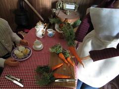 fresh carrots (Pumpkin Hill Studios/King William Miniatures) Tags: miniatures dolls handmade barbie diorama littlehouseontheprairie lauraingallswilder miniaturefood 16scale dollfood barbiefood pumpkinhillstudiosonetsy 042113
