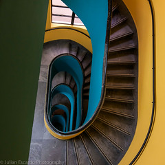 Green-Blue-Yellow... (Julian E...) Tags: architecture stairs spiral spiralstaircase alfortville julianescardo