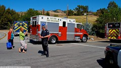 3 Alarm Fire in San Jose Foothills (YFD) Tags: california usa canon fire action 911 sanjose alf ambulance firetruck squad sjfd emergency paramedic ems firedepartment americanlafrance freightliner fl70 eos7d medicmaster