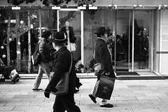 Tokyo Reflections: Hats (Richard Buttrey) Tags: street film japan tokyo ginza kodak hats rangefinder scan 6x7 67 80mm mamiya7