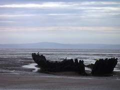 SS Nornen (foxcm) Tags: uk beach landscape coast boat ship mud devon wreck waterway noren
