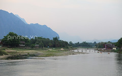 Nam Song River (pinnee.) Tags: mountain mountains laos lao vangvieng mountainsview vangviang namsongriver laopdr centrallaos laospdr  amountainouscountry