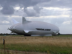 Airlander10 (Biggleswade Blue) Tags: hybrid air vehicle vehicles airship helium airlander airlander10 10 airlander35 35 cardinton shed sheds beds bedfordshire flight england science technology engineering stem outdoor sky landscape field plain
