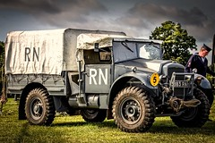 Headcorn Combined Ops 2016 (aquanout) Tags: military vehicle navy historic truck lorry grass trees wheels