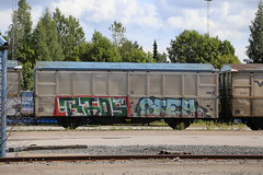 Freights (Thomas_Chrome) Tags: graffiti streetart street art spray can freight train vr cargo moving target object illegal suomi finland europe nordic