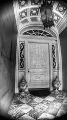Doorway (joditbobo) Tags: marble doorway entryway nola new orleans neworleans blackandwhite door urn frenchquarter
