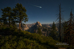 Shoot Me A Star (Darvin Atkeson) Tags: california yosemite national park halfdome elcapitan bridalveil forest sierra nevada mountains clouds rest valley canyon glacier darv darvin lynneal atkeson yosemitelandscapescom meteor shooting star stars perseid