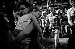 Sleepy (stimpsonjake) Tags: nikoncoolpixa 185mm streetphotography bucharest romania city candid blackandwhite bw monochrome woman child sleeping baby mother