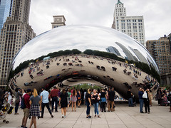 20160814 - 10 - Chicago - Day 3.jpg (Kayhadrin) Tags: reflection illinois chicago cloudgate usa unitedstates us
