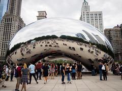 20160814 - 10 - Chicago - Day 3.jpg (Kayhadrin) Tags: reflection illinois chicago cloudgate usa unitedstates us