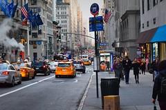 NYC Street (WinterTheWusky) Tags: nyc newyork taxi street buildings