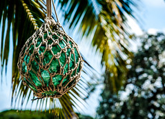 island decoration (-gregg-) Tags: island bahamas palm trees sky glass art decoration green