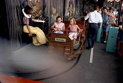 Disneyland Snow White load area in 1968 (Tom Simpson) Tags: snowwhite snowwhitesscaryadventure disney disneyland queue ride ridevehicle castmember vintage 1968 1960s vintagedisney vintagedisneyland fantasyland