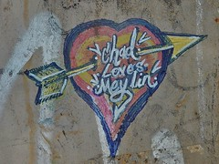 Chad Loves Meylin (mikecogh) Tags: glenelg cupid arrow graffiti heart