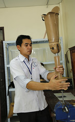 USAID supports the work of the Cooperative Orthotic and Prosthetic Enterprise (COPE) (USAID Asia) Tags: usaid disabilities pwd prosthetics laos lao pdr