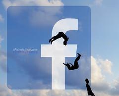 Volteggiare (michele franzese) Tags: volteggiare twirl facebook logo silhouette tuffo dive