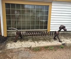 Colorado Trip (apocaknits) Tags: colorado swetsvillezoo metalsculpture toystory slinky dog art sculpture