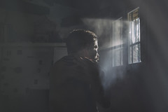 Those moments you see in a ray of light and feel the urge to immortalize. (jcalveraphotography) Tags: selfportrait selfie serie studio portrait photo photographer projects 365 darkness dreams magic