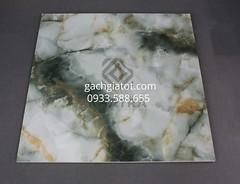 Gạch vi tinh xanh ngọc lục bảo (80x80)
